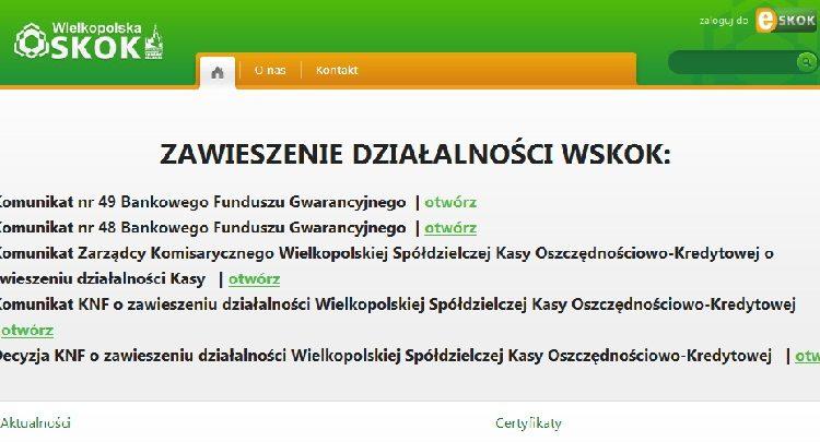 Wielkopolska SKOK ogłasza bankructwo. Kasa miała swoje biuro m.in. w Żninie
