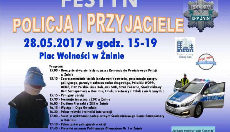 Komenda Powiatowa Policji w Żninie zaprasza na festyn