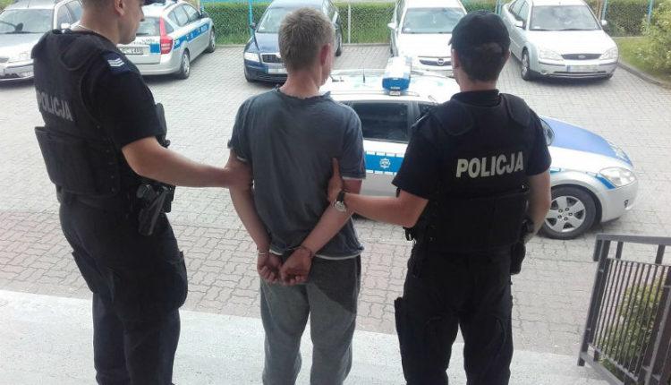 Wandale w rękach policjantów z Barcina