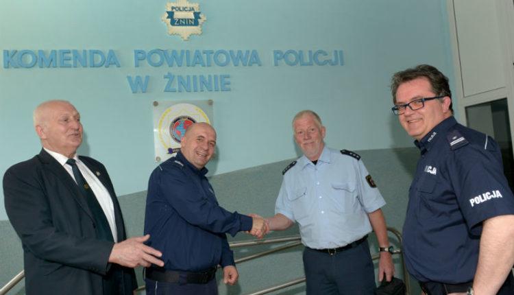 Oficer niemieckiej policji odwiedził żnińską komendę