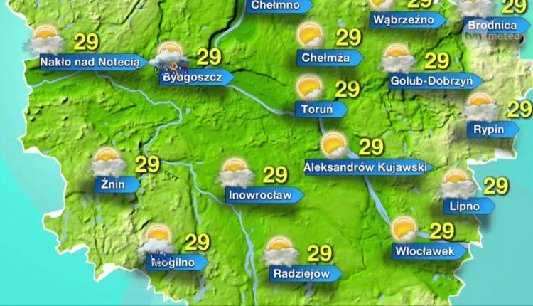 Pogoda dla Pałuk na środę. Będzie gorąco! Nawet do 30 stopni!