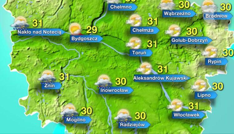 Pogoda na czwartek, piątek i sobotę. Popołudniami możliwe burze