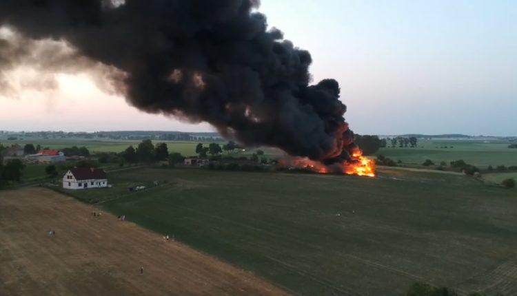Płonie wysypisko śmieci pod Mogilnem. Okoliczne gminy w niebezpieczeństwie!
