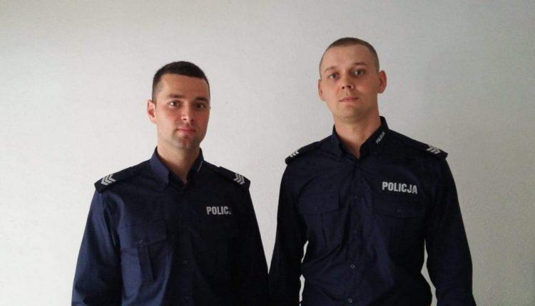 Barcińscy policjanci uratowali życie młodego mężczyzny