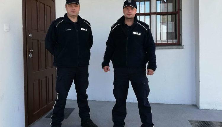 Barcin. Policjanci przyszli z pomocą na czas