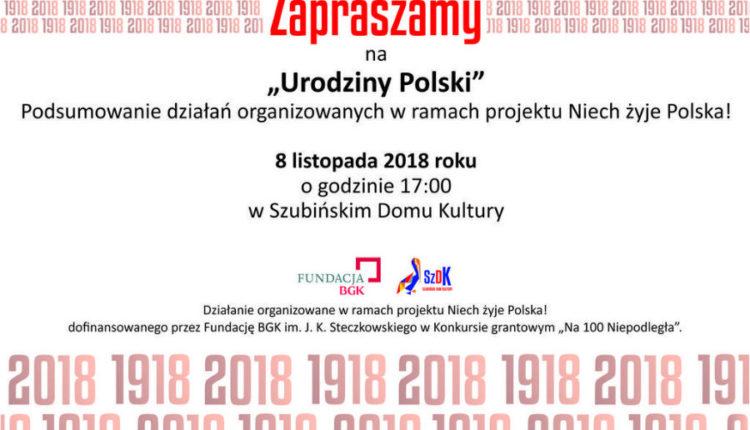 """Szubin. Zaproszenie na """"Urodziny Polski"""""""