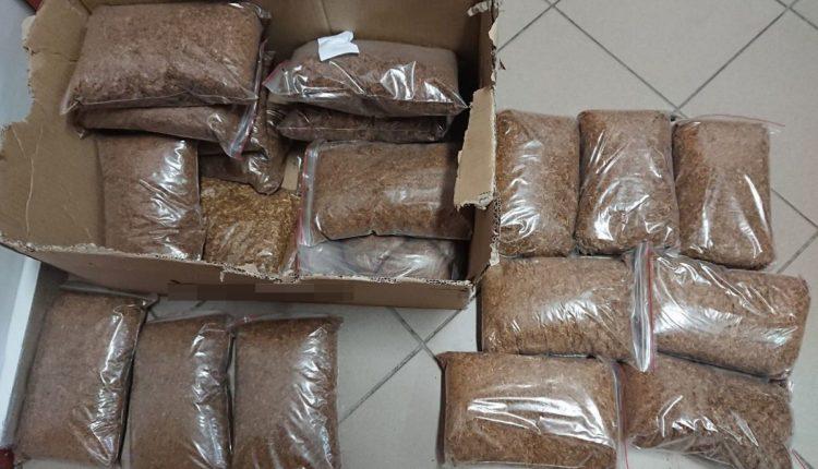 Kcynia. Policjanci skonfiskowali pond 10 kilogramów nielegalnego tytoniu