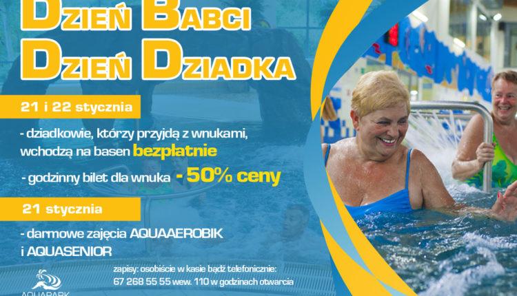 Wągrowiecki Aquapark z promocją na Dzień Babci i Dziadka