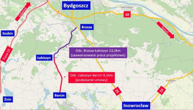 Droga wojewódzka z Łabiszyna do Barcina zostanie przebudowana. Wartość inwestycji to prawie 33 mln zł