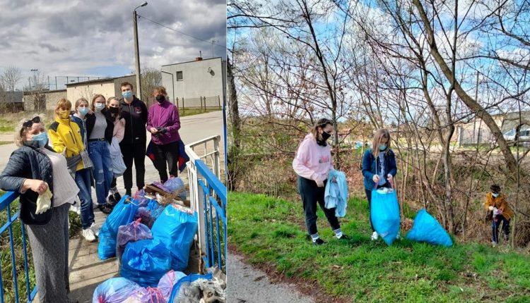 Wolontariusze Szymona Hołowni posprzątali Szubin