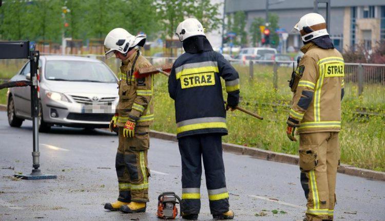 Ponad 1,3 tys. interwencji strażaków w związku z burzami i silnym wiatrem